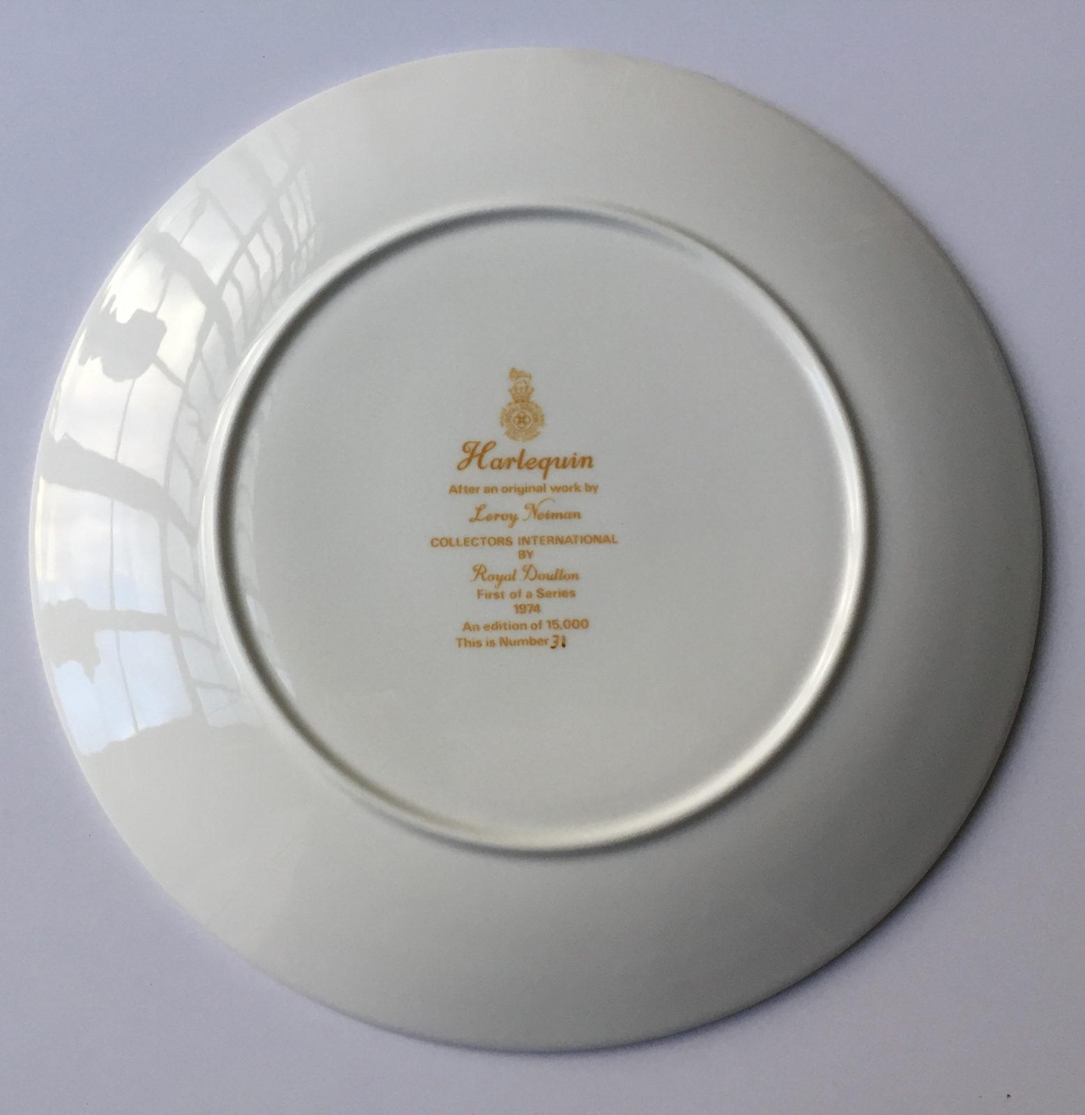 Harlequin plate (Back)