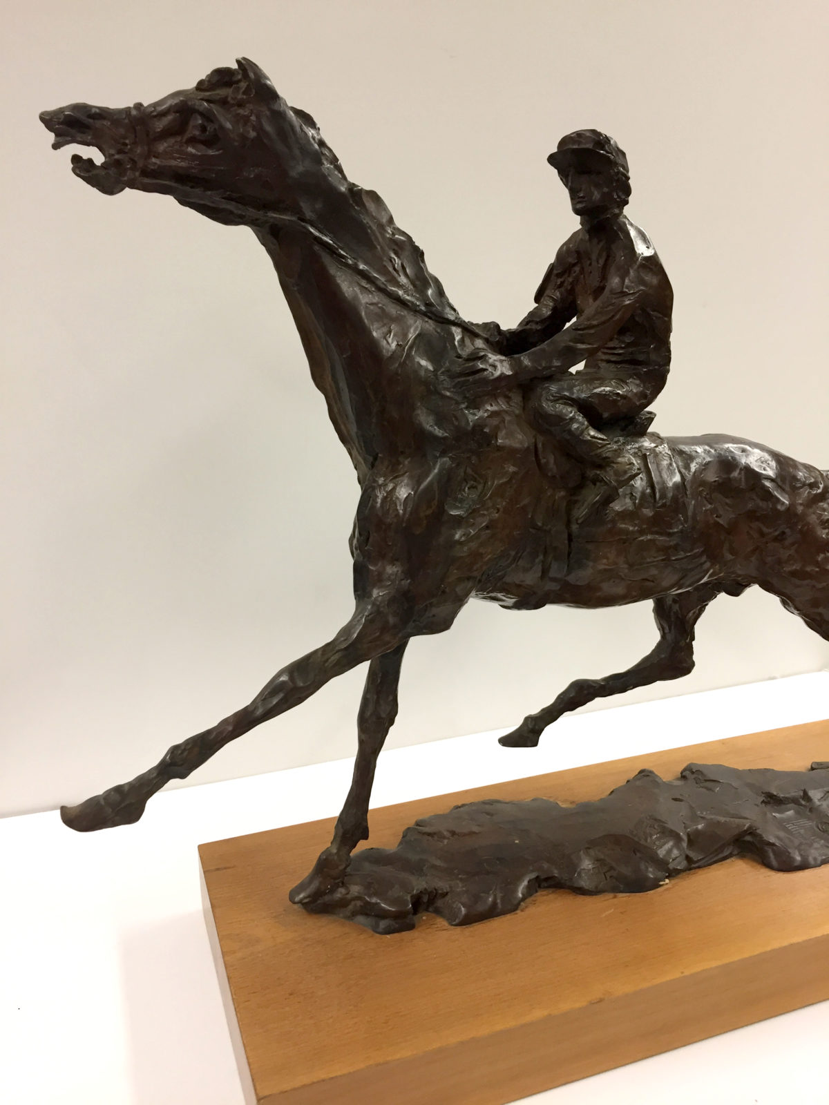Pulling Up (Horse and Jockey) sculpture