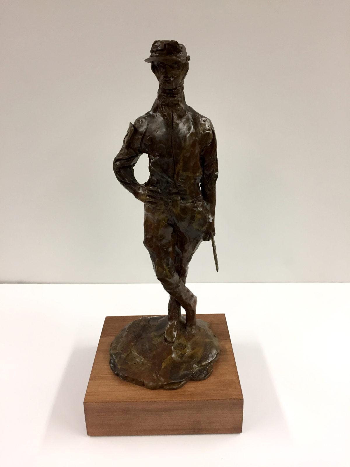 Male Jockey sculpture