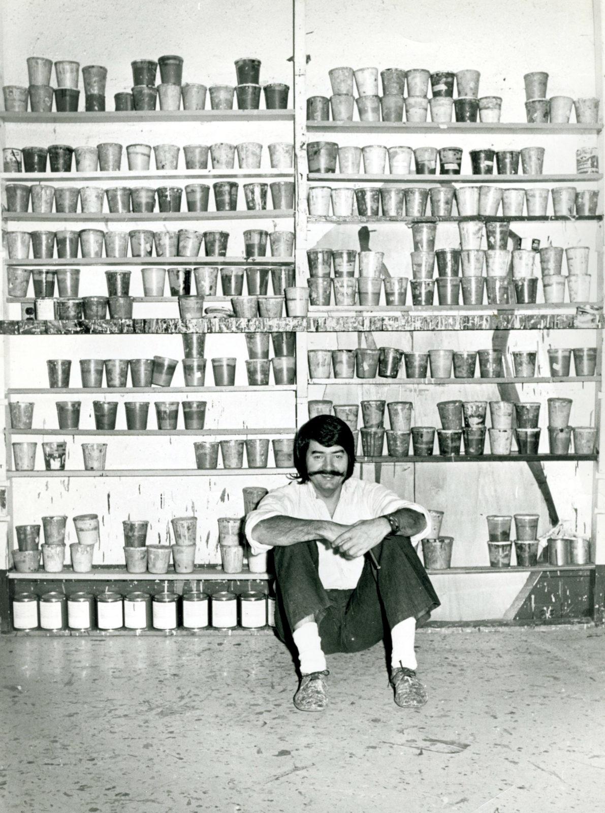 LeRoy Neiman in his studio in 1972
