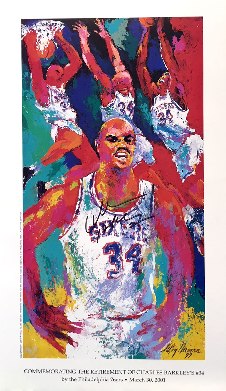 Commemorating the Retirement of Charles Barkley Poster, signed