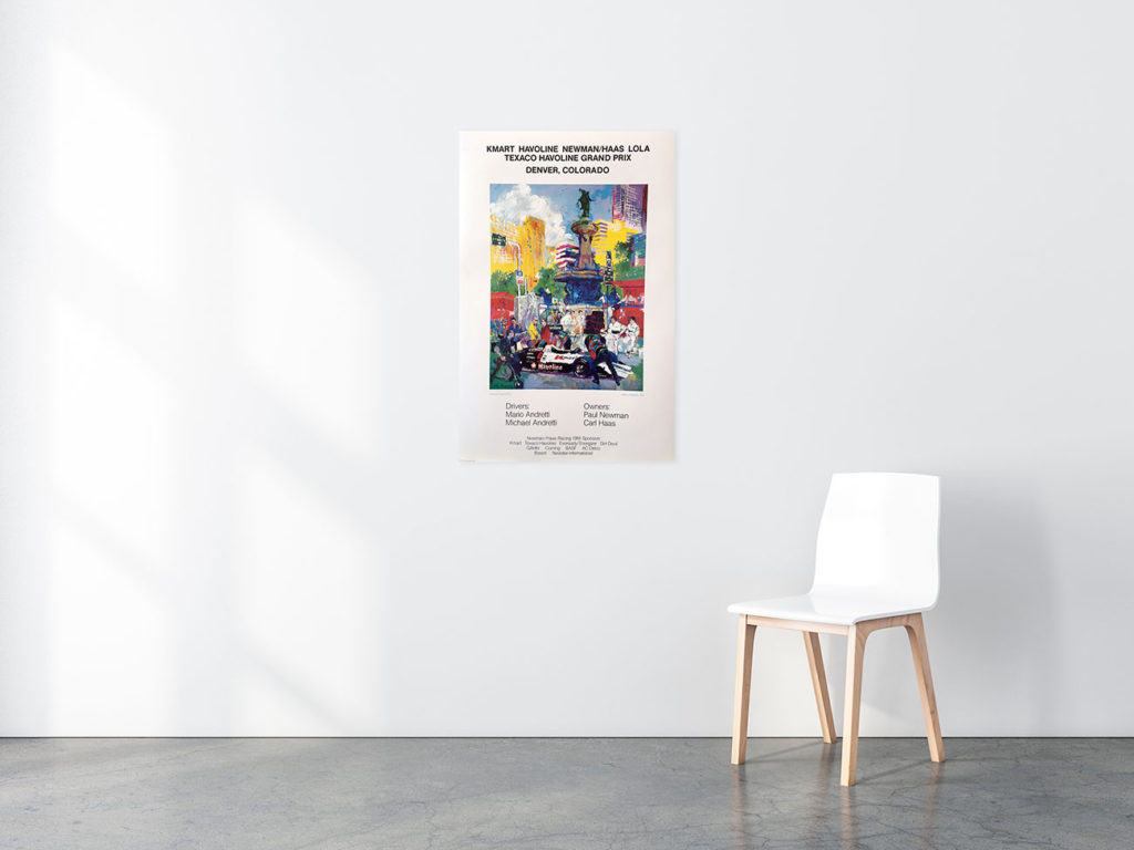 KMart Havoline, Denver Grand Prix poster in situ