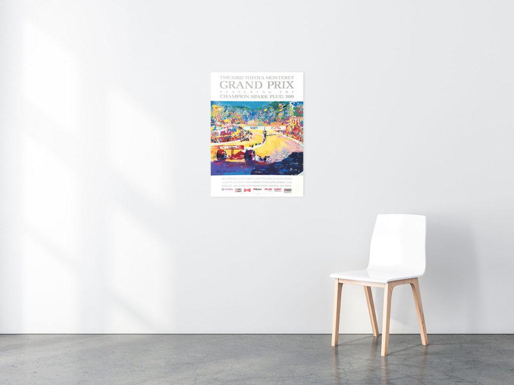 Laguna Seca Grand Prix poster in situ