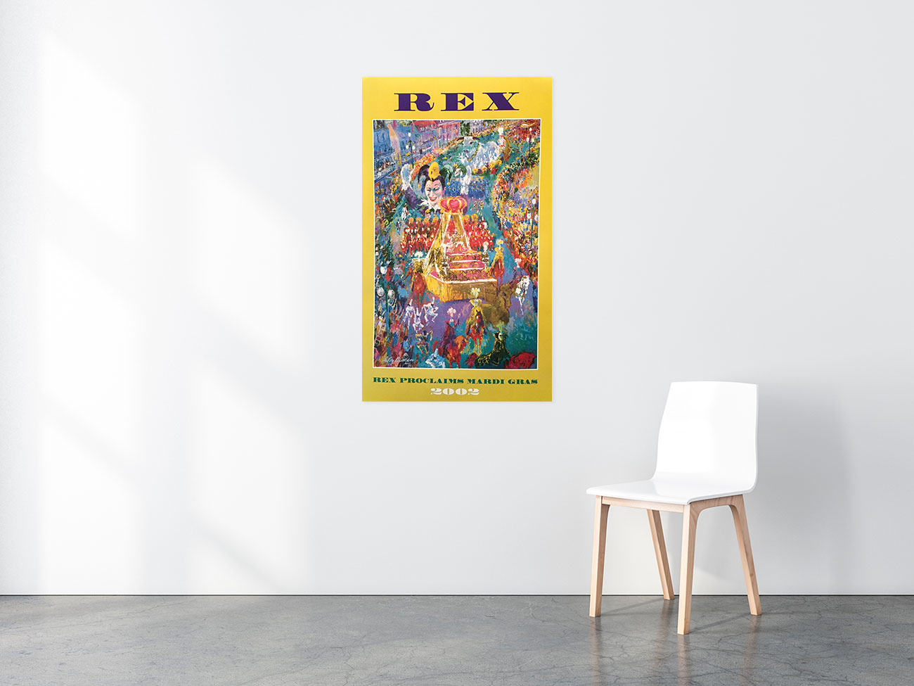 Rex Proclaims Mardi Gras poster in situ