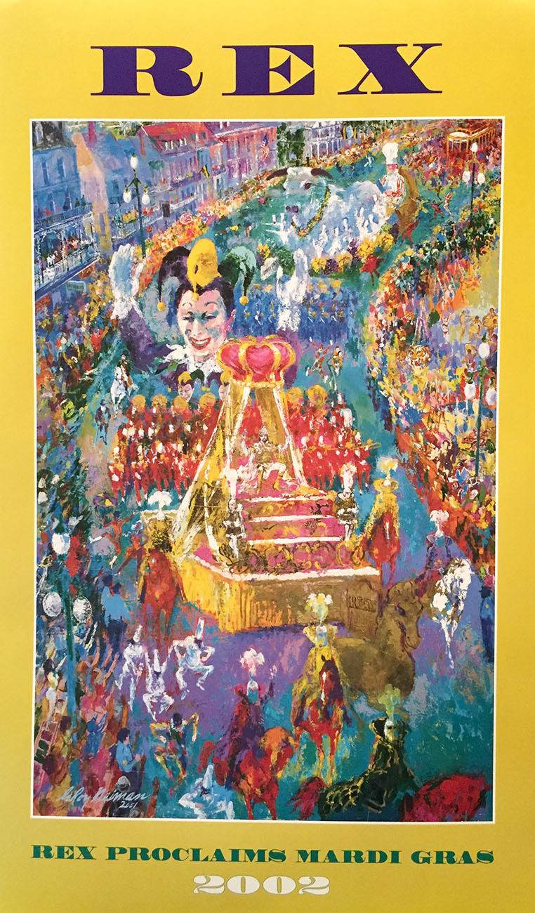 Rex Proclaims Mardi Gras poster