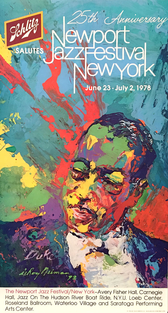 Schlitz Salutes 25, Newport Jazz NY, 1978 poster