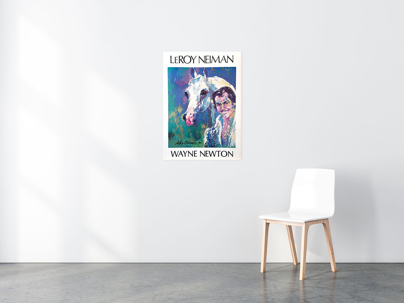 Wayne Newtown Poster in situ