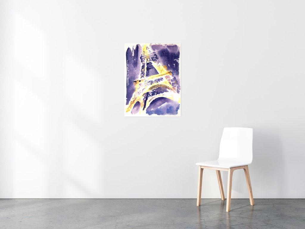 Eiffel Tower print in situ
