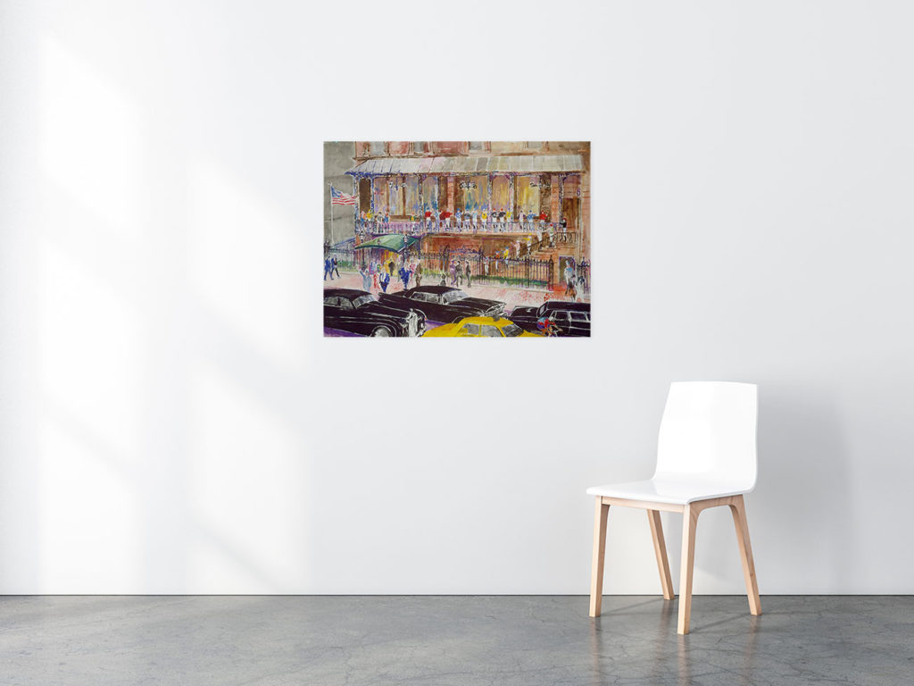 '21' Club, 1990 print in situ