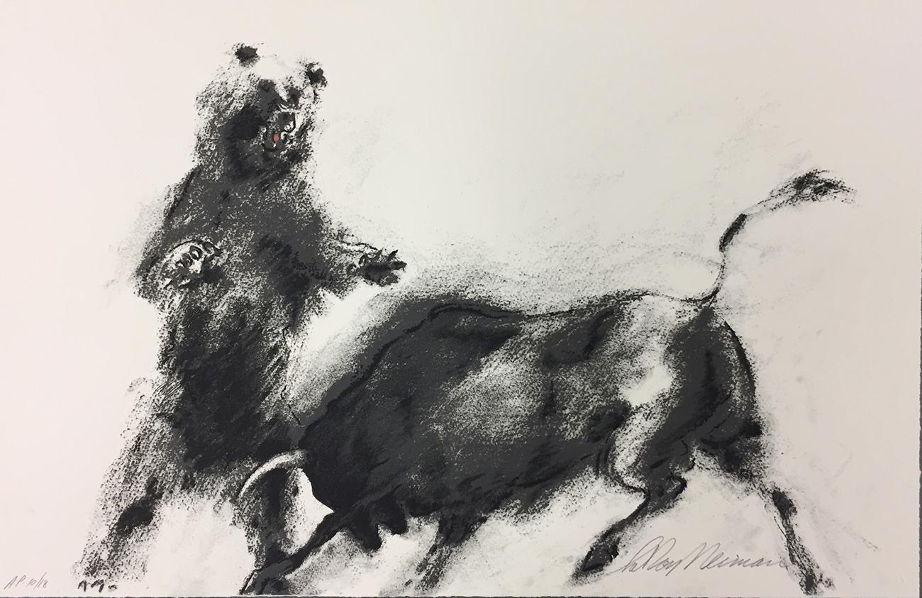 Bull and Bear print