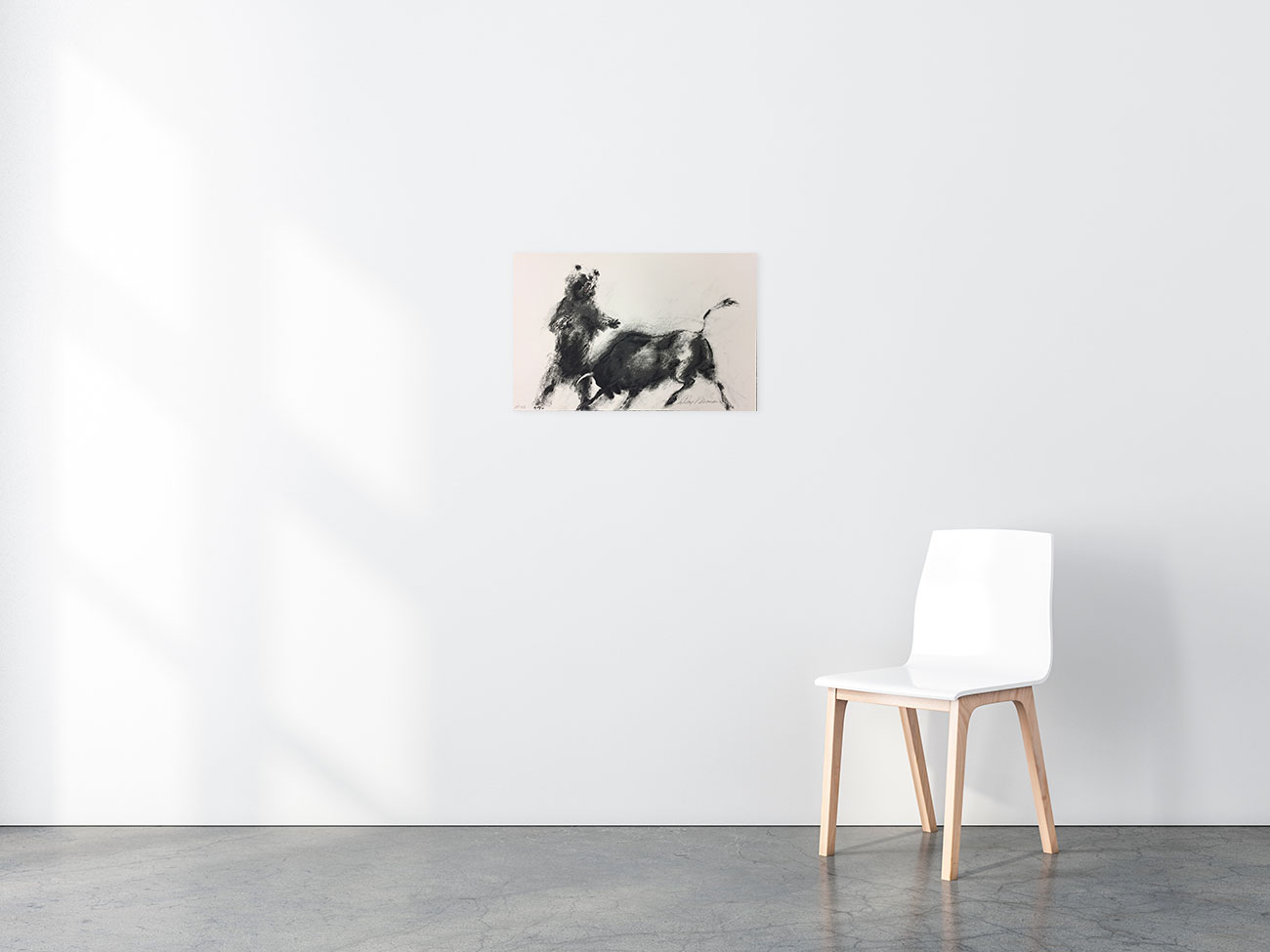 Bull and Bear print in situ