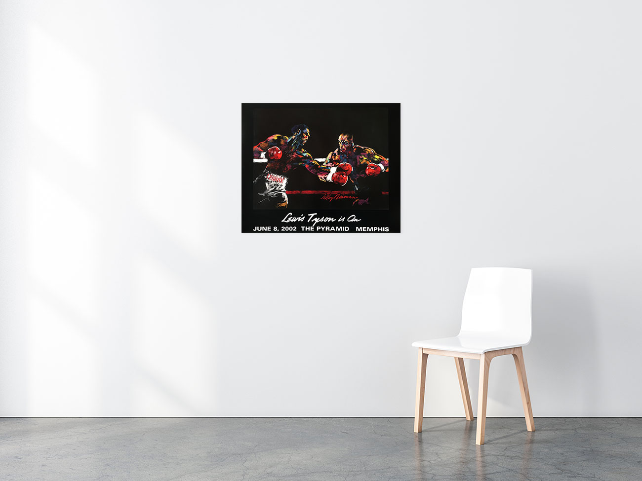 Lewis vs. Tyson is On poster in situ