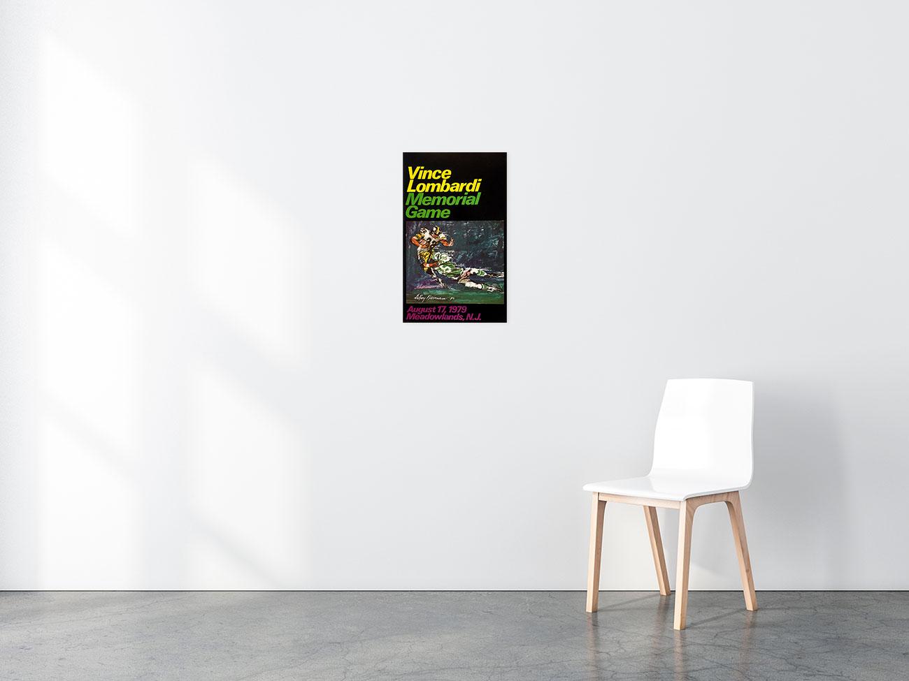 Vince Lombardi Memorial Game poster in situ