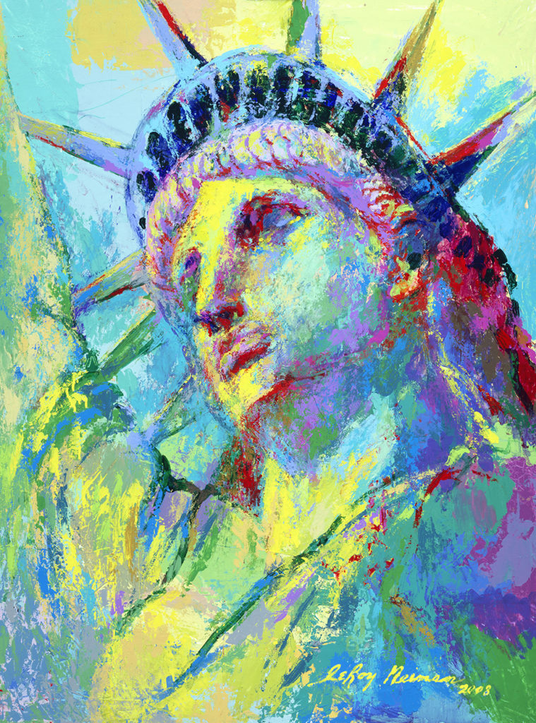 Portrait of Liberty print