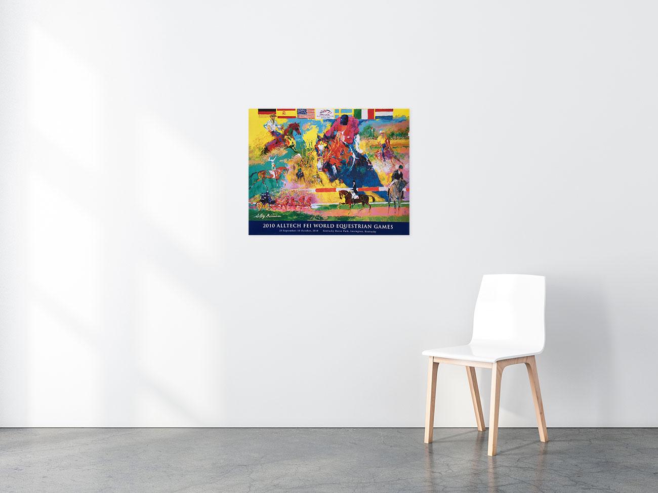 World Equestrian Games poster in situ