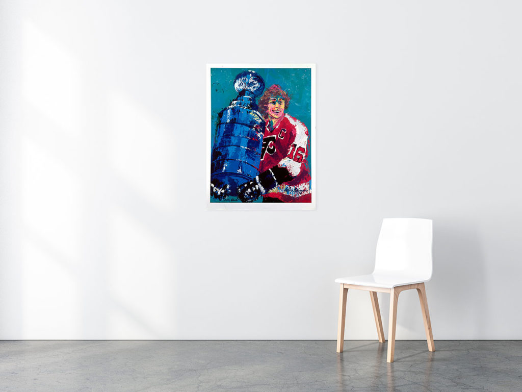 Bobby Clarke poster in situ