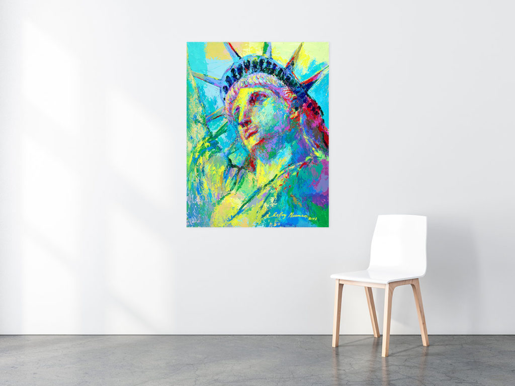 Portrait of Liberty print in situ