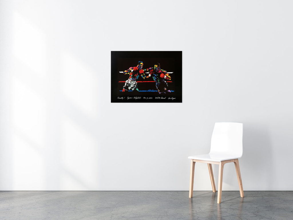 Tyson vs. Holyfield poster in situ